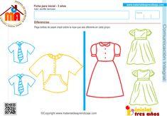 Actividad a realizar: Pega bolitas de papel crepé sobre la ropa que sea diferente en cada grupo. Coordinación visomotriz: Abolillar y pegar Capacidad: Reconocer