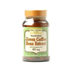 Only Natural Green Coffee Bean Extract - 400 Mg - 60 Capsules