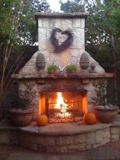 Must have an outdoor fireplace hearth for candace (so I can stay outside with her ;) - nmp