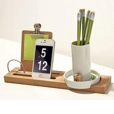 W+W #Desk Organizer - wood and ceramic