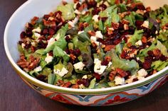 Mixed Green Salad with Apple Cider Vinaigrette Recipe on Yummly