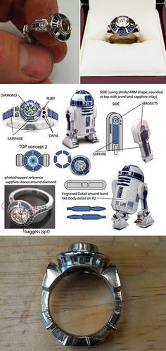 An Astromech ring for the droid in your life. | 28 Wedding Proposals Every Geek Dreams Of