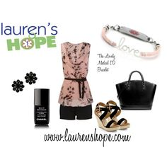 We just love the new Lovely medical ID bracelet! It's such a delicate, feminine design that's pretty enough for work but casual enough for play. Gorgeous! #medical_ID #medical #Medical_ID_Jewelry #laurenshope #laurens_hope #polyvore #polyvore_set #bracelet #accessory #accessories #nails #shorts #sandals #jewelry #T1D #diabetes #WLS #gastric_bypass #allergies #epilepsy #celiac