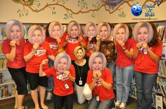 Big face cutouts are the perfect decoration or party favor for your retirement party!