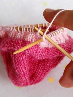 When knitting in round   ... If the first stitch on the needle is a purl stitch, then it's better to start the new needle above the previous needle.