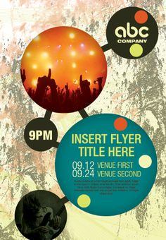 Create Your Own Atom Bubble Style Event Flyer