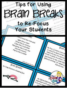 Help your students re-focus and more by using active brain breaks in the classroom!
