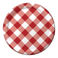 Gingham Galore 9 Inch Dinner Plates/Case of 96