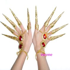 1pc-Belly-Dance-Dancing-Finger-Cot-Costume-Indian-Thai-Golden-Finger-Jewelry