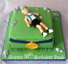 50th Birthday Runner Happy Birthday Paul, 50th Birthday, Birthday Cakes, Running Cake, Runners Food, 40th Cake, Sports Day, Cake Ideas, Lunch Box