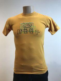 Reef Mustard Yellow Logo Tee S