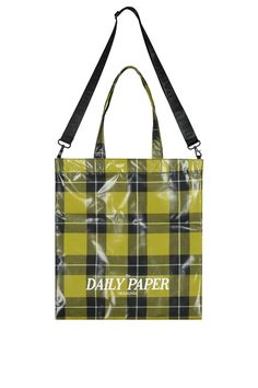 DAILY PAPER Yellow Checkered Tote Bag - SHOP NOW at SEASON 7 – Season 7 Paper Logo, Daily Papers, Waist Pack, Product Label, Season 7, Brand It, Hand Warmers, Soft Leather, Shopping Bag