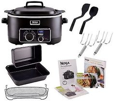 This is my newest kitchen gadget and I LOVE it!  It saves so much time.  Ninja 3-in-1 6 qt. Nonstick Cooking System with Cookbook and Accessories