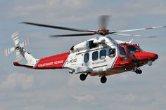 CoastGuard AW189 SAR helicopter, Lee-On-Solent, UK, Photo : André Bour