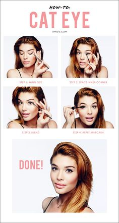 Celebrity makeup artist Lauren Andersen demonstrates a step-by-step #tutorial to creating the perfect cat eye.