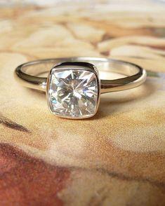 pretty moissanite ring