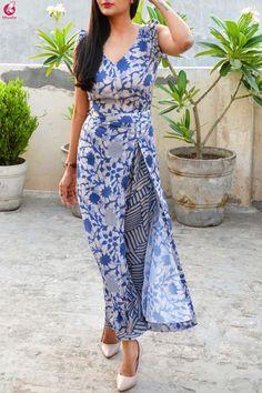 Buy Multicolored Printed Satin Georgette Kurti Set Online in India Colorauction is part of Kurti - Kurta Designs Women, Kurti Neck Designs, Saree Blouse Designs, Dress Designs, Indian Fashion Trends, Indian Designer Outfits, Designer Dresses, Dress Indian Style, Diy Dress