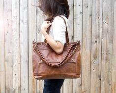 Leather Laptop Bag Leather Tote Professional by JennyNDesign