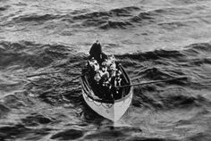 A Titanic lifeboat approaches the rescue ship Carpathia, April 15, 1912. The Carpathia, which took on more than 700 survivors of the disaster, was herself sunk in 1918, during the first World War, by a German U-boat.