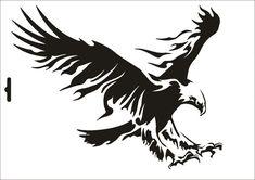 4.9AUD - Stencil W-076 Eagle Umr Wall Stencil #ebay #Home & Garden