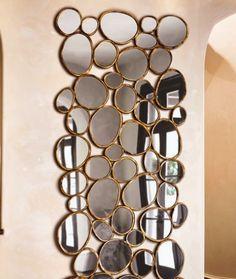 Metal Tasarımlı Duvar Aynası
