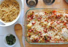 Frango italiano pronto para comer.