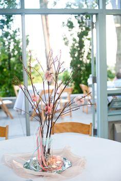 tree + flower centerpieces