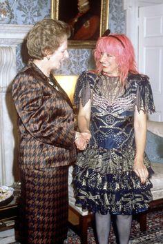 Meeting designer Zandra Rhodes in London. The Iron Lady, Zandra Rhodes, Ossie Clark, Houndstooth Jacket, Margaret Thatcher, Advanced Style, Celebrity Photos, Amazing Women, Female