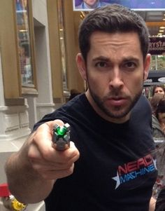 Zachary Levi with a Sonic Screwdriver <--- Flynn Rider is a Time Lord, as we know. Everything i love most in life