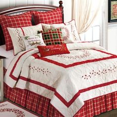 C&F Home Berry Wreath Holiday Quilt makes great Christmas home decor for the entire holiday season! Christmas bedroom decor is a must for the holidays and this Christmas quilt is beautiful. Christmas Bedding, Christmas Home, Elegant Christmas, Country Christmas, Christmas Ornament, Xmas, Quilt Bedding, Bedding Sets, European Pillows