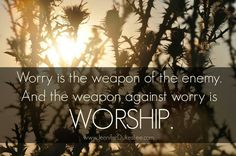 Worship....even when u don't feel it