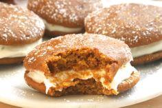 whoop there it is. [pumpkin whoopie pies w. bourbon cream cheese filling] - sweet carolines cooking