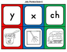 Jolly Phonics Matching Card Game (Letter Sounds-Action Symbols) Students sort the cards by matching the letter sounds with the action symbol, or play a game of memory with a partner. There are several ways to differentiate using these cards.Comes in both color and B&W.