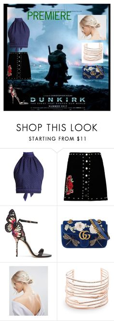 """""""PREMIERE DUNKRIK"""" by retnoclara ❤ liked on Polyvore featuring CECILIE Copenhagen, Boohoo, Sophia Webster, Gucci, ASOS and Alexis Bittar"""