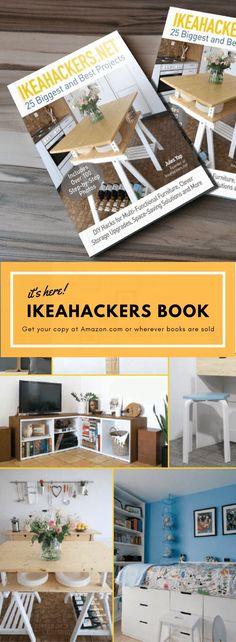The IKEA hackers book is here – mobels Ikea Hack Bookcase, Ikea Expedit, Ikea Design, Ikea Furniture, Furniture Makeover, Furniture Design, Ikea Hacks, Pax Regal, Ikea Organisation
