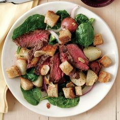 Steak-and-Potato Salad with Mustard Dressing | Rachael Ray Mag