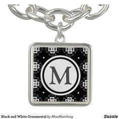 Black and White Ornamental Bracelet