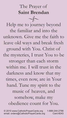 St. Brendan Prayer Card