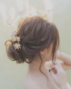 いいね!139件、コメント2件 ― 中崎町ヘアアレンジサロンColetteさん(@hairset_colette)のInstagramアカウント: 「結婚式や二次会にオススメ! 皆様のご来店心よりお待ちしております(*´﹀`*) #関西 #大阪 #梅田 #二次会ヘア #パーティーヘア #ブライダルヘア #結婚式ヘア #お呼ばれヘア #ゆるふわ…」 Dress Hairstyles, Bride Hairstyles, Easy Hairstyles, Bridal Hairdo, Hairdo Wedding, Romantic Wedding Hair, Hair Arrange, Flowers In Hair, Marie