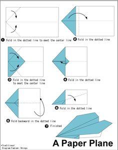 Fold a fairly simple airplane.