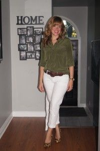 White Jeans & Hunter Green ~ My Fall Style