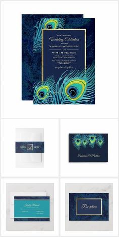 Peacock Feather Design Wedding Suite, Favors and Party Supplies. from the Best Day Ever store at zazzle.com Whimsical Wedding Invitations, Bridal Shower Invitations, Wedding Favors, Wedding Menu Cards, Wedding Envelopes, Wedding Postage Stamps, Exotic Wedding, Wedding Suite, Feather Design