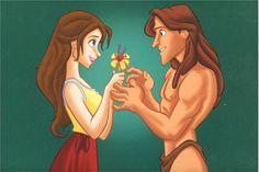 Tarzan Tattoo, Disney Sleeve, Tarzan And Jane, Disney Fan Art, Ariel, Disney Characters, Fictional Characters, Cinema, Fandoms