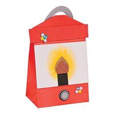 Paper Bag Lantern Craft Kit - OrientalTrading.com