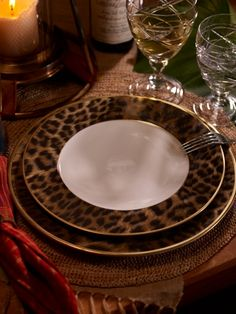 A printed leopard motif on a plate? This is & Hutchinson Soup Bowl - Ralph Lauren Home Dinnerware - RalphLauren ...