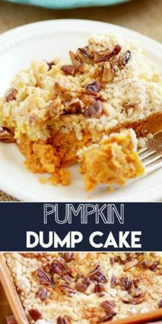I can't believe how easy this cake is! It's like a pumpkin pie in cake form with crumble on top. SO GOOD!