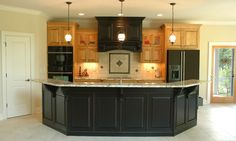 Design 29098 Kitchen. As built by Jarman Homes in Clayton, NC.