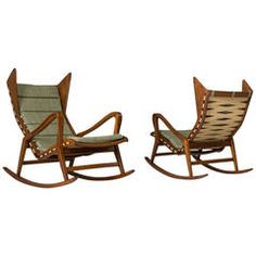 Two Rocking Chairs for Cassina | From a unique collection of antique and modern rocking chairs at https://www.1stdibs.com/furniture/seating/rocking-chairs/