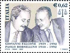 Anniversary of the death of Falcone and Borsellino Giovanni Falcone, Postage Stamp Collection, Penny Black, Palermo, Stamp Collecting, My Stamp, Postage Stamps, Famous People, History