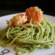 Creamy Pesto Shrimp Allrecipes.com